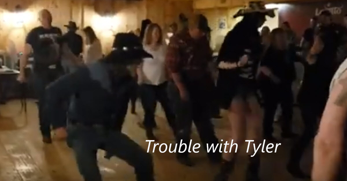 Line Dance Trouble with Tyler
