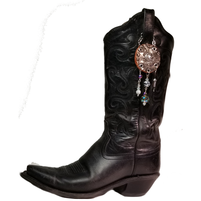 Black & Silver Boot Topper