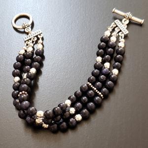 3 Strand Blue Bracelet