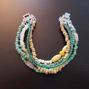 5 Strand Green Bracelet