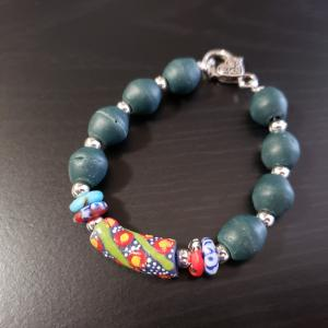 Green African Recycled Beads