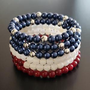 American Flag themed bracelet
