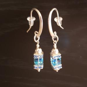Baby Blue Swarovski Crystals Earrings