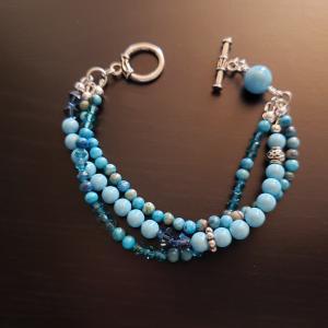 Beautiful 3 Strand Turquoise Bracelet