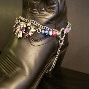 Beautiful Multicolour Boot Bling