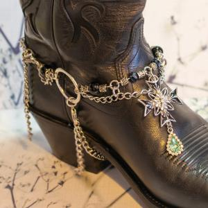 Black Cross Boot Bling