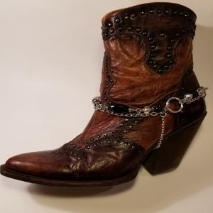 Black Crystal Boot Bracelet
