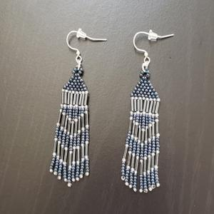 Blue Bead Native Earrings