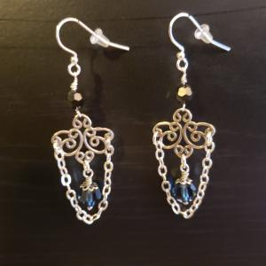 Blue Chandalier Earrings