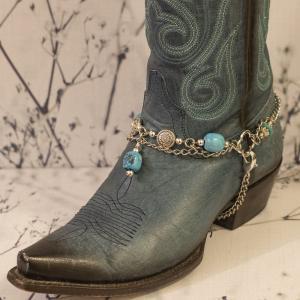 Blue Stone Boot Bracelet