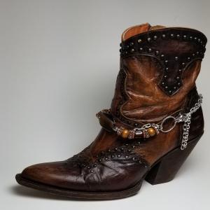 Brown and Silver Boot Bling