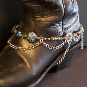 Brown and Turquoise Boot Bling