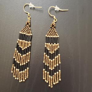Brown Native Earrings