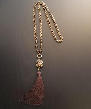 Brown Tassle Necklace