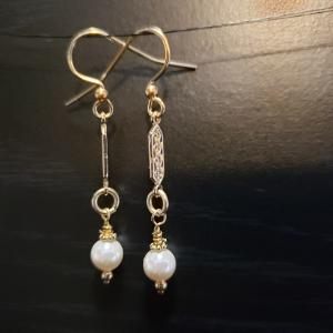 Champagne Bead Earrings