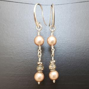 Champagne earring