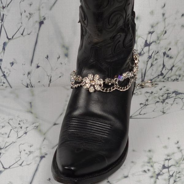 Crystal Flower Boot Bracelet