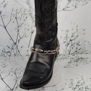 Elegant Black Crystal Boot Bling