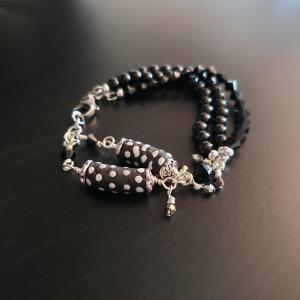 Funky Black and White Bracelet