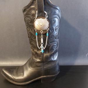 Silver Concho Cowgirl Charm