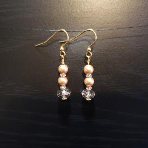 Gold Swarovski earrings