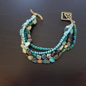 Green 4 Strand Bracelet