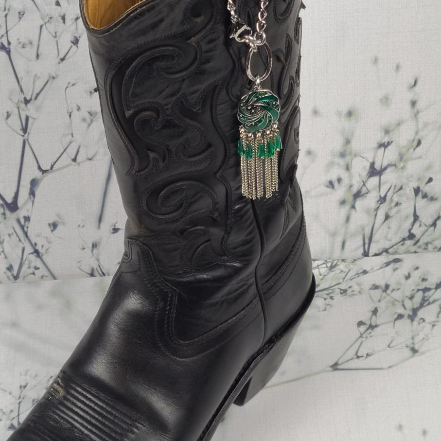Green Dangle Boot Charm