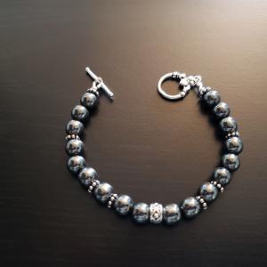 Gun Metal Gray Bracelet