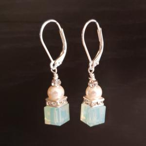 Jade Green Swarovski Earrings