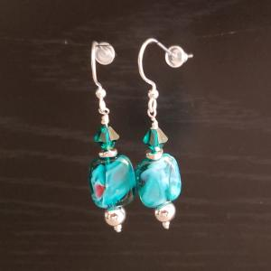 Marbled Emerald Earrings