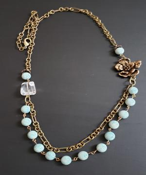 Mint Green Vintage Inspired Necklace