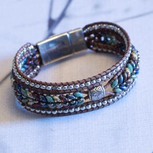 Multi Colored Herringbone Bracelet