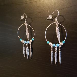 Native Style Hoop Earrings