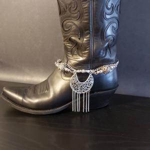 Silver Charm Boot Bracelet