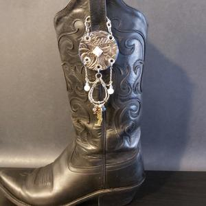 Horse Shoe Cowgirl Charm