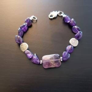 Purple Sunburst Bracelet