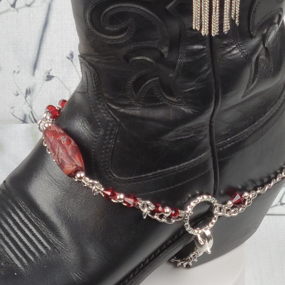 Red Stone Boot Bracelet