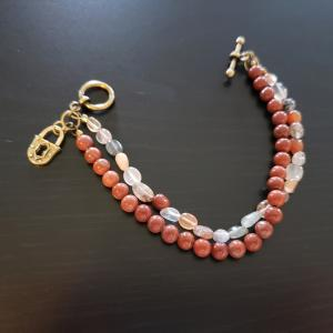 Rust Coloured 2 strand Bracelet