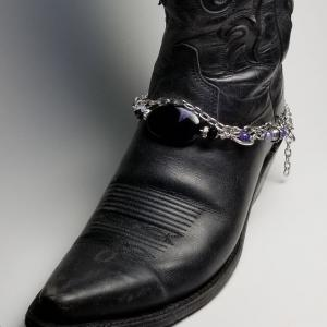 Silver and Purple Boot Bling