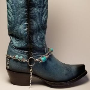 Turquoise Accented Boot Bracelet