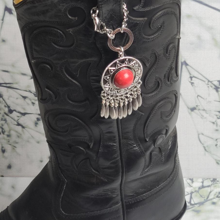 Silver and Turquoise Boot Topper