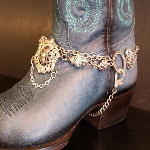 Silver Crystal Boot Bling