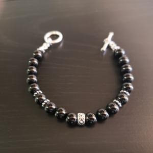 Simple Black Beaded Bracelet