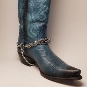 Smokey Silver Boot Bling