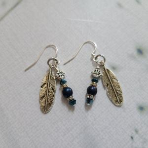 Swarovski Crystal and Feather Earrings