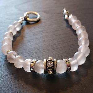 Transparent Pink Bracelet