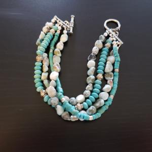 Turquoise 4 strand bracelet