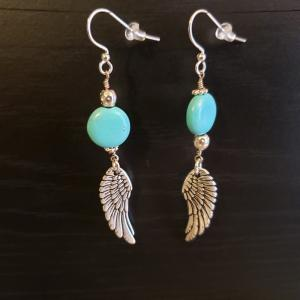 Turquoise Angel Wing Earrings