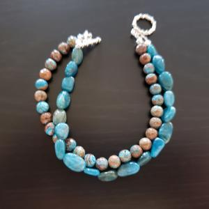 Two Strand Blue Bracelet