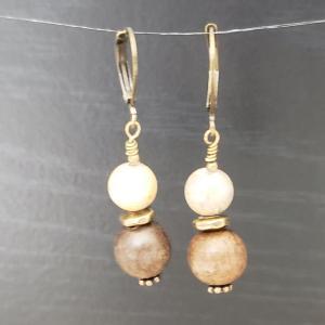 Wooden Bead earring
